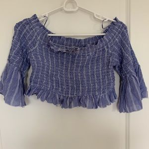 Free People off the shoulder cropped top NWT